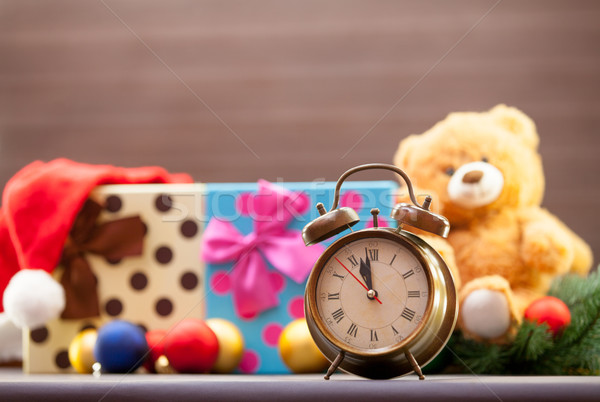 Alarm clock on christmas Stock photo © Massonforstock