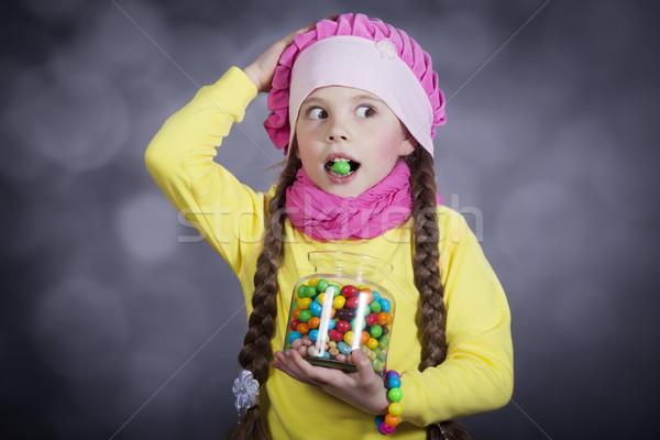 Petite fille gelée bean peu bruit Photo stock © Massonforstock