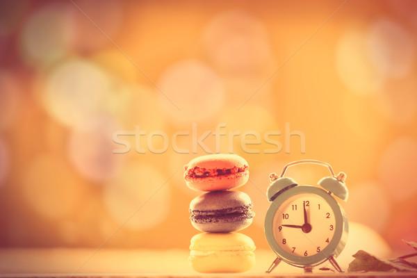 будильник французский macarons желтый осень оранжевый Сток-фото © Massonforstock