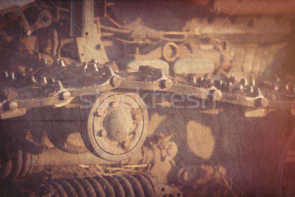 Vieux tracteur photo style rétro Photo stock © Massonforstock