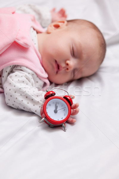 Little baby sleeping in the bed  Stock photo © Massonforstock