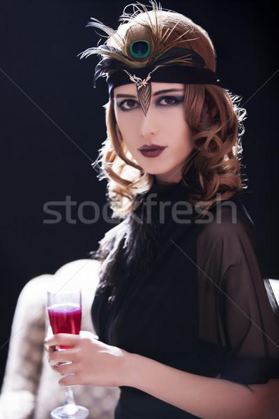 Photo stock: Fille · 20s · style · visage · jeunes