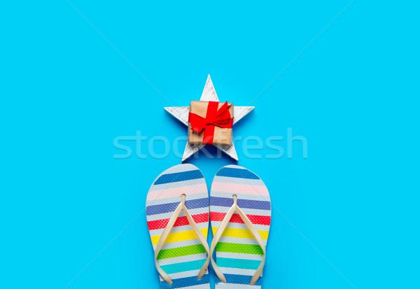красочный сандалии красивой подарок звездой Сток-фото © Massonforstock