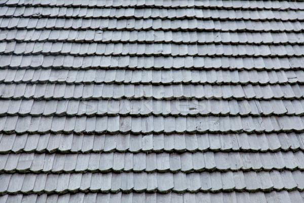 photo of beautiful grey wooden roof shingles  Stock photo © Massonforstock