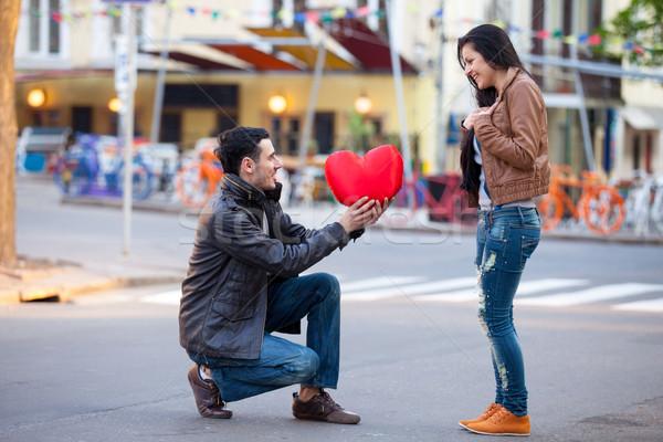 фото Cute пару сердце игрушку Сток-фото © Massonforstock