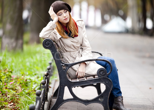 Beautiful girl at street. Stock photo © Massonforstock