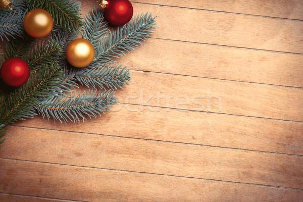 Fenyőfa ágak színes csodálatos barna fából készült Stock fotó © Massonforstock