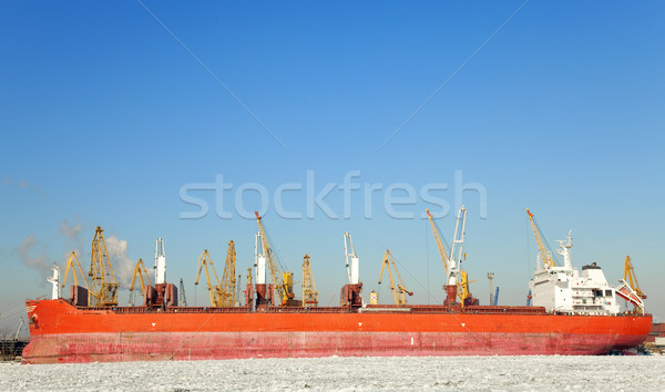 Stock photo: Winter in a Odessa seaport