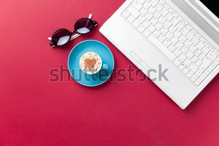 Photo frame and romantic ribbon  Stock photo © Massonforstock