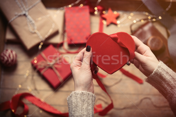 hands wrapping toy Stock photo © Massonforstock