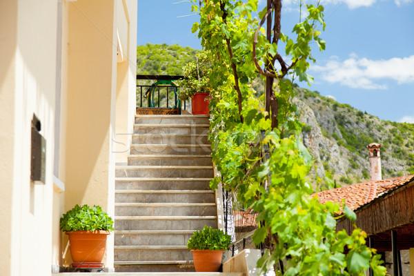 Foto belo escada um edifícios ensolarado Foto stock © Massonforstock