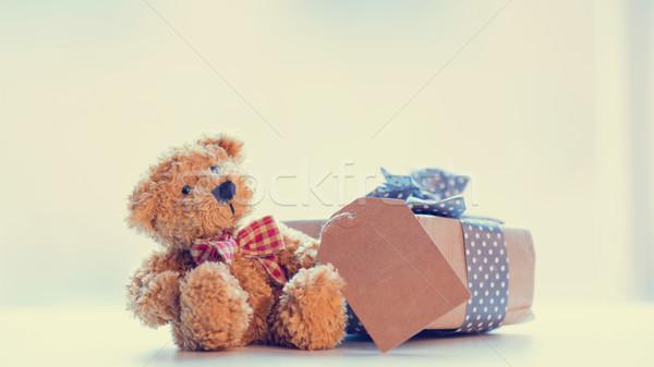 Sevimli oyuncak ayı fiyat etiket güzel hediye Stok fotoğraf © Massonforstock