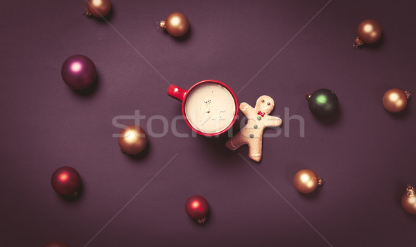 Cup of coffee and gingerbread man  Stock photo © Massonforstock