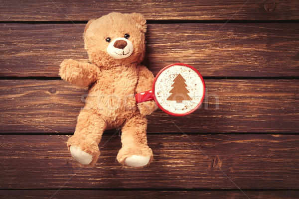 cappuccino and teddy bear toy  Stock photo © Massonforstock