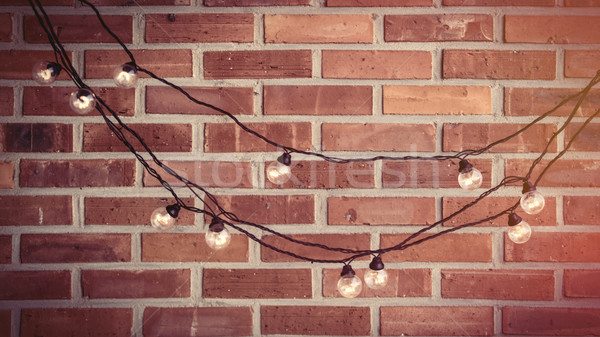 Belo brilhante grinalda maravilhoso vermelho tijolo Foto stock © Massonforstock