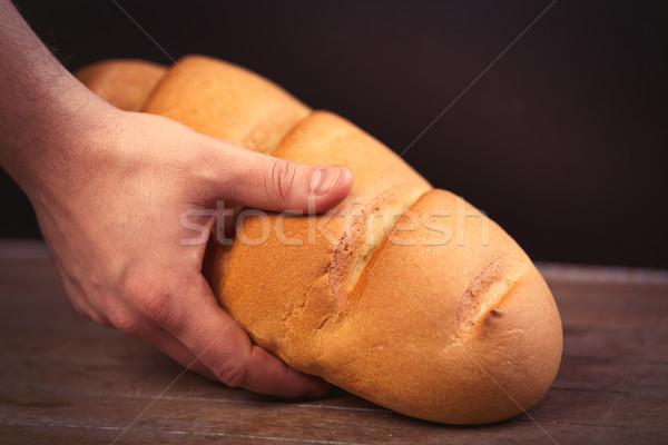 Masculino mão pão pão maravilhoso Foto stock © Massonforstock