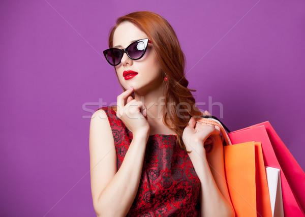 Foto belo mulher jovem colorido maravilhoso Foto stock © Massonforstock