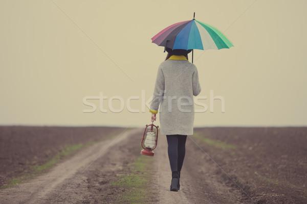красивой зонтик замечательный дороги области Сток-фото © Massonforstock