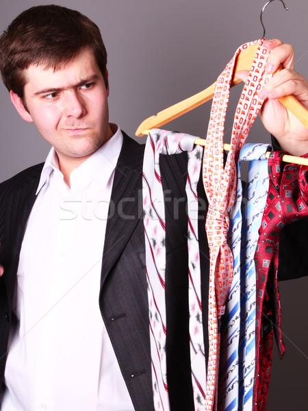 Imprenditore cravatta business lavoro ragazzo Foto d'archivio © Massonforstock