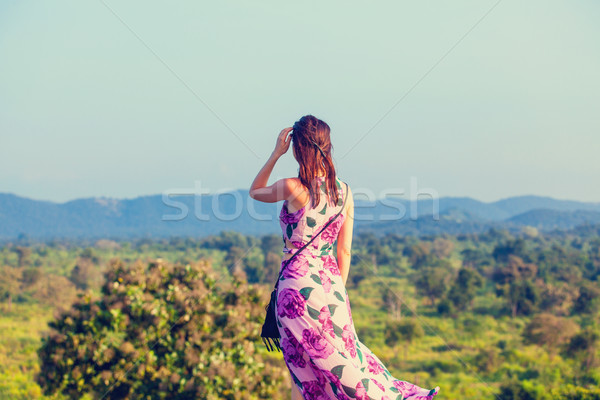 woman and mountains  Stock photo © Massonforstock