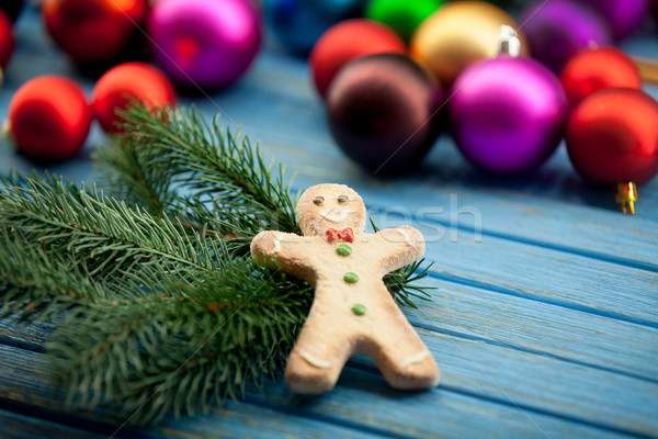 Gingerbread man with Chrsitmas toys  Stock photo © Massonforstock