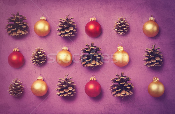 Christmas gifts and pine cones  Stock photo © Massonforstock