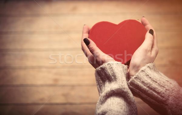hands holding toy Stock photo © Massonforstock