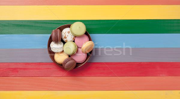 Fotó tányér tele csodálatos pop art stílus Stock fotó © Massonforstock