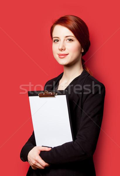 Hermosa portapapeles maravilloso rojo trabajo Foto stock © Massonforstock