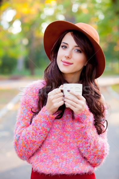 фото красивой Кубок кофе Постоянный Сток-фото © Massonforstock