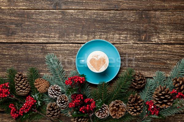 Stock fotó: Fotó · csésze · kávé · karácsony · díszítések · csodálatos