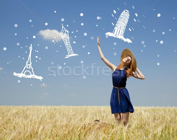 Stok fotoğraf: Kız · bahar · moda · mavi