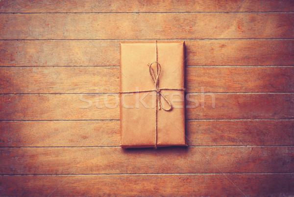 Parcel in retro packaged Stock photo © Massonforstock