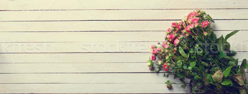Beautiful bouquet of roses Stock photo © Massonforstock