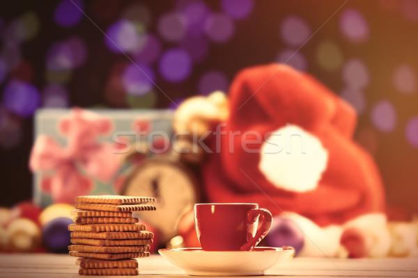 Кубок чай кофе Cookies Рождества продовольствие Сток-фото © Massonforstock