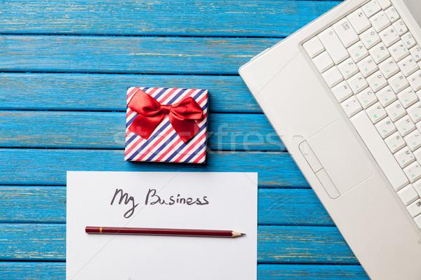 Foto papel mi negocios libros cute Foto stock © Massonforstock