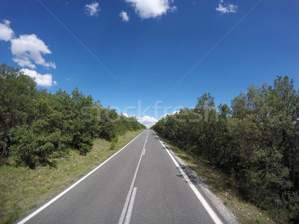 Foto bella strada sereno cielo Grecia Foto d'archivio © Massonforstock