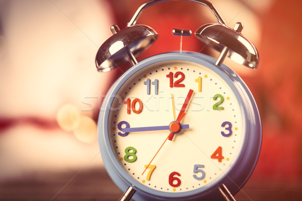 Fotó színes ébresztőóra csodálatos ajándékok óra Stock fotó © Massonforstock