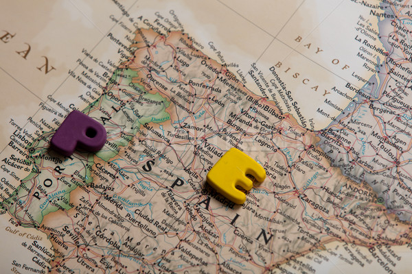 Foto mapa España colorido cartas maravilloso Foto stock © Massonforstock