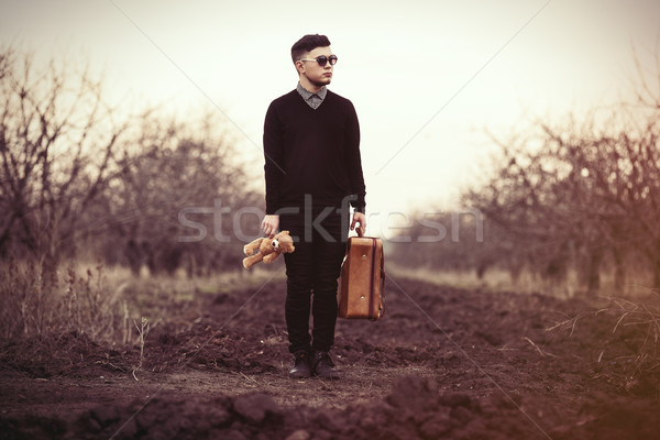 Stock photo: Man with travel bag