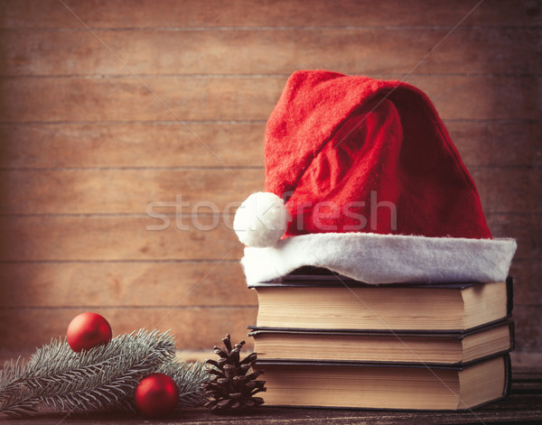 Santas hat and pine brench  Stock photo © Massonforstock