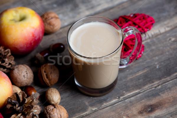 Tasse café coeur jouet noix Photo stock © Massonforstock
