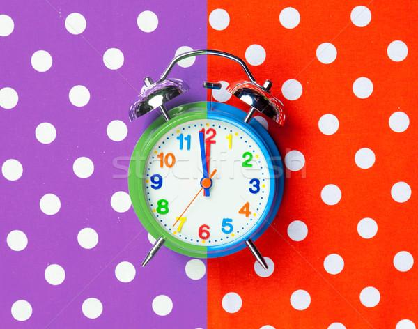 Fotó hideg ébresztőóra csodálatos színes pop art Stock fotó © Massonforstock