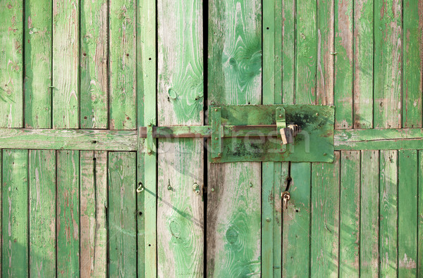 lock on the door wood Stock photo © Massonforstock