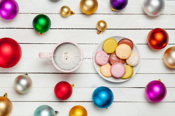 фото Кубок кофе пластина полный удивляться Сток-фото © Massonforstock