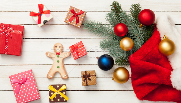 Stock photo: Gingerbread with baubles