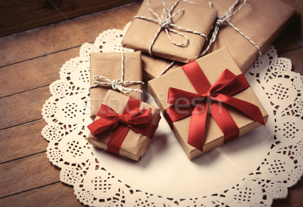 gifts on napkin Stock photo © Massonforstock