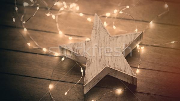 Gyönyörű csillag alakú játék fényes aranyos Stock fotó © Massonforstock