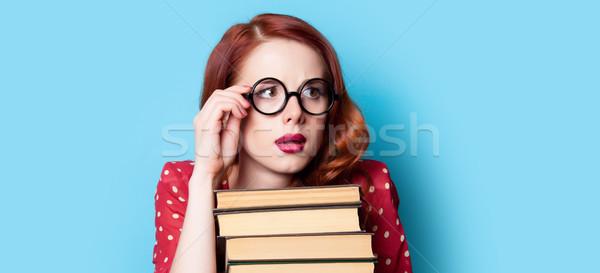 Bella libri meraviglioso blu Foto d'archivio © Massonforstock
