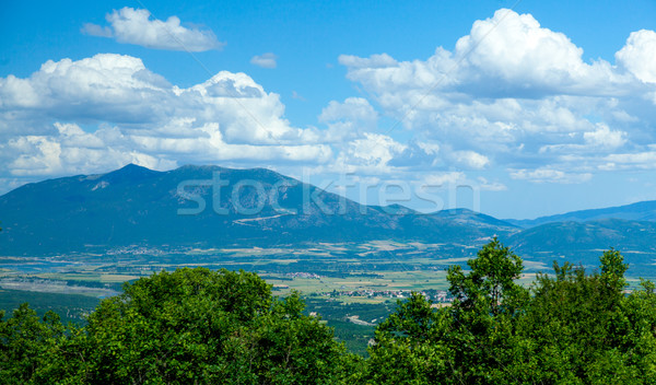 photo of the huge field in front of the wonderful high mountains Stock photo © Massonforstock